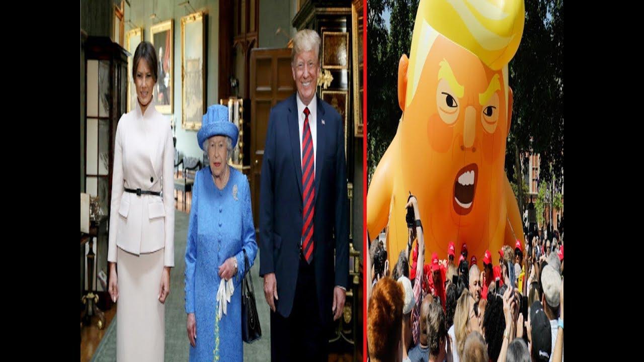 Donald Trump meets Queen Elizabeth II, thousands register their protest with 'Trump baby'