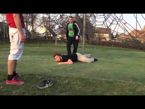 awesome backyard wrestling match in public squaredcircle