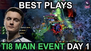TI8 BEST PLAYS The International 2018 MAIN EVENT DAY 1 Highlights Dota 2 by Time 2 Dota #dota2