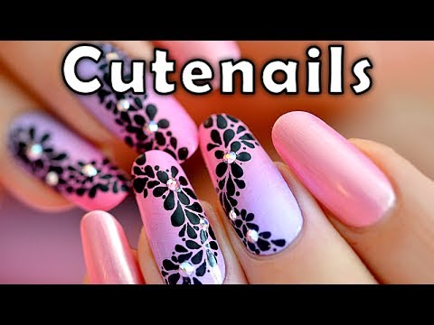 Fast & easy Nail art tutorial - YouTube