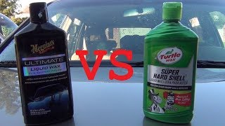 The Difference Between Turtle Wax Hard Shell, Carnuba Cleaner Wax, and Ice Premium Synthetic wax