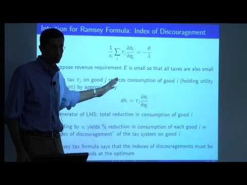Topic 4: Optimal Taxation Part 1 | Economics 2450A: Public Economics