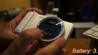 Samsung Galaxy Camera unboxing overview and making phone calls