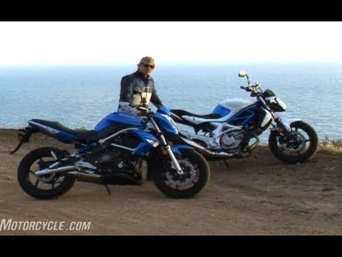 2009 Naked Middleweight Comparison: Kawasaki ER-6n vs. Suzuki Gladius