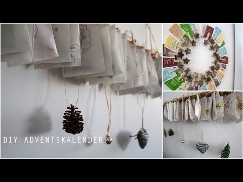 diy adventskalender last minute zwei ideen youtube. Black Bedroom Furniture Sets. Home Design Ideas