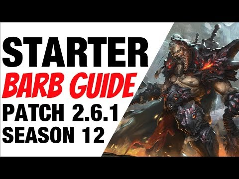 Patch 2.6.1 Barbarian Starter Build Guide Season 12 Diablo 3 thumbnail