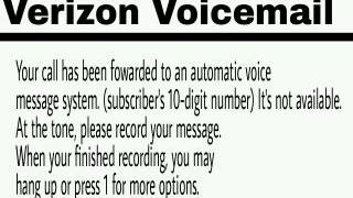 Verizon Voicemail Error Sound Effect