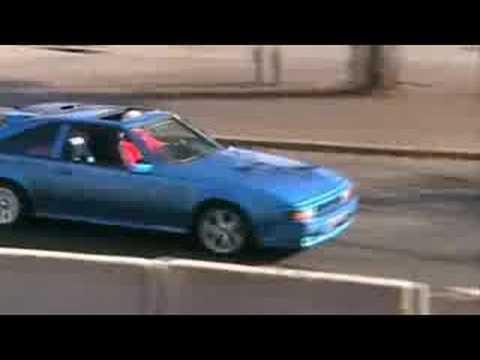 Toyota Celica Supra mk2 drifting Helsinki