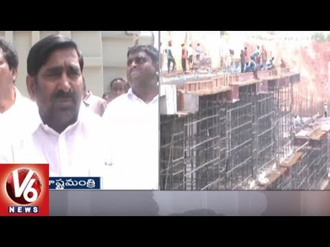 Minister Jagadish Reddy And Suryapet Farmers Inspects Kaleshwaram Project Works | V6 News