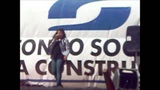 maria pia cantando give your heart a break de demi lovato EN SAN JOSE