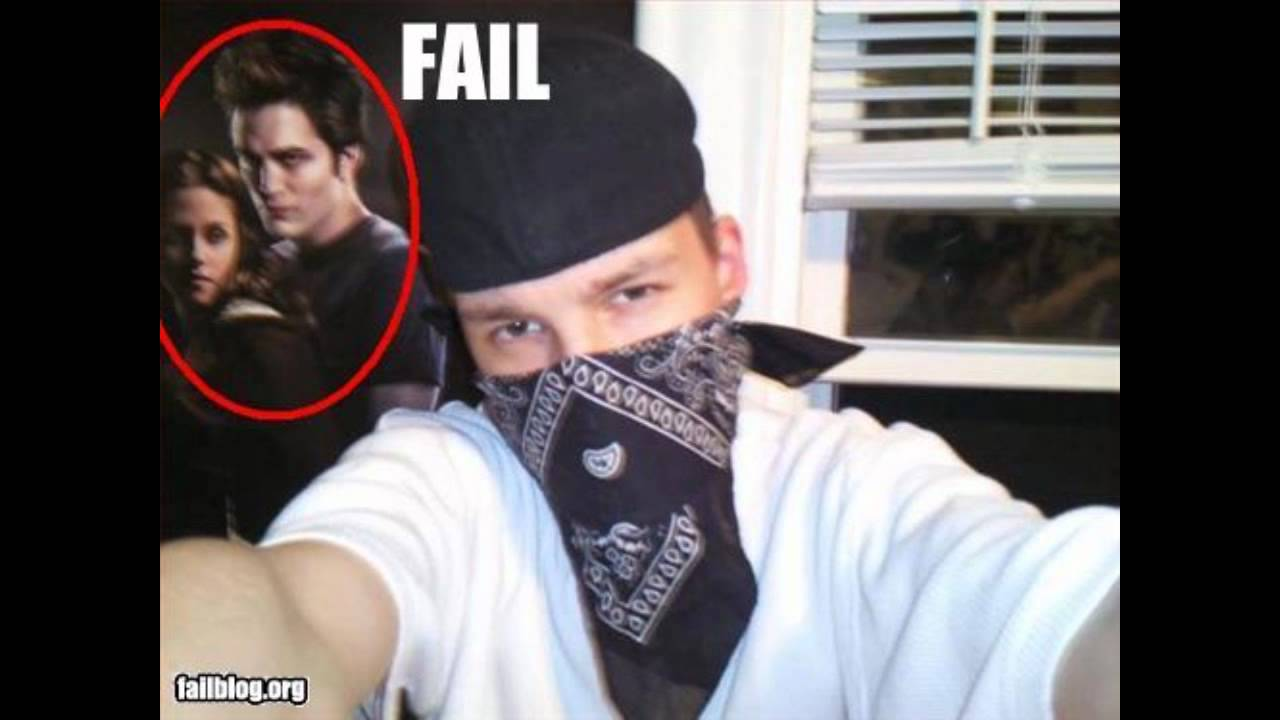 gangster selfie fail pic Twilight poster