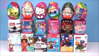 Surprise Chocolate Eggs Mashems Fashems Kinder PJ Masks Hello Kitty Paw Patrol Shopkins TOYS