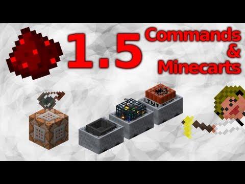 1.5 Minecraft - Redstone Update! Commands & Minecarts Showoff