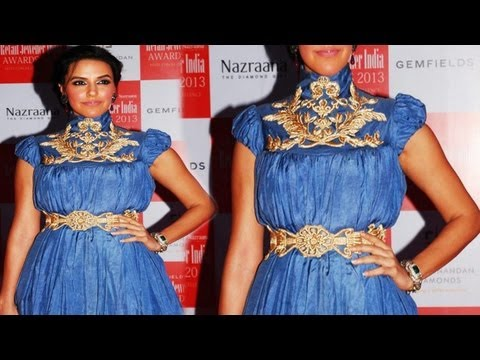 Sexy Neha Dhupia Looks Gorgeous In Blue video