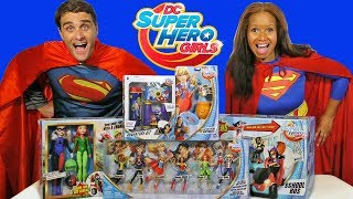 DC Superhero Girls Toy Challenge Supergirl Vs. Superman !     Toy Review    Konas2002