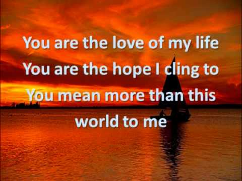 You are (the love of my life)