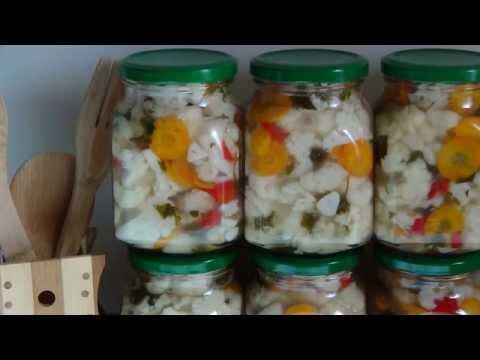 Салат из цветной капусты. Заготовки на зиму.