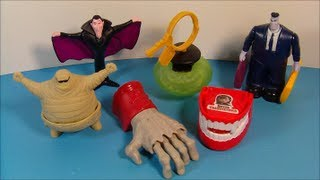 Hotel Transylvania - 2012 HOTEL TRANSYLVANIA SET OF 6 McDONALD'S HAPPY MEAL MOVIE TOY'S VIDEO REVIEW