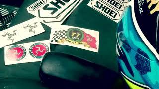 Pintado casco moto a spray TT Isle of Man