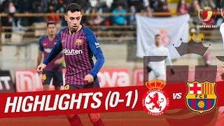Resumen de Cultural Leonesa vs FC Barcelona 0-1