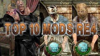 TOP 10 LOS MEJORES Y MAS LOCOS MODS DE RESIDENT EVIL 4 - MaxiLunaPMY