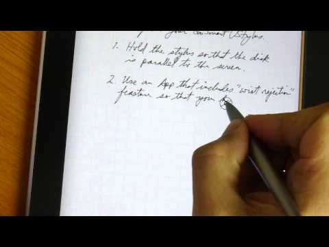 Full Page Writing with GoSmart Stylus