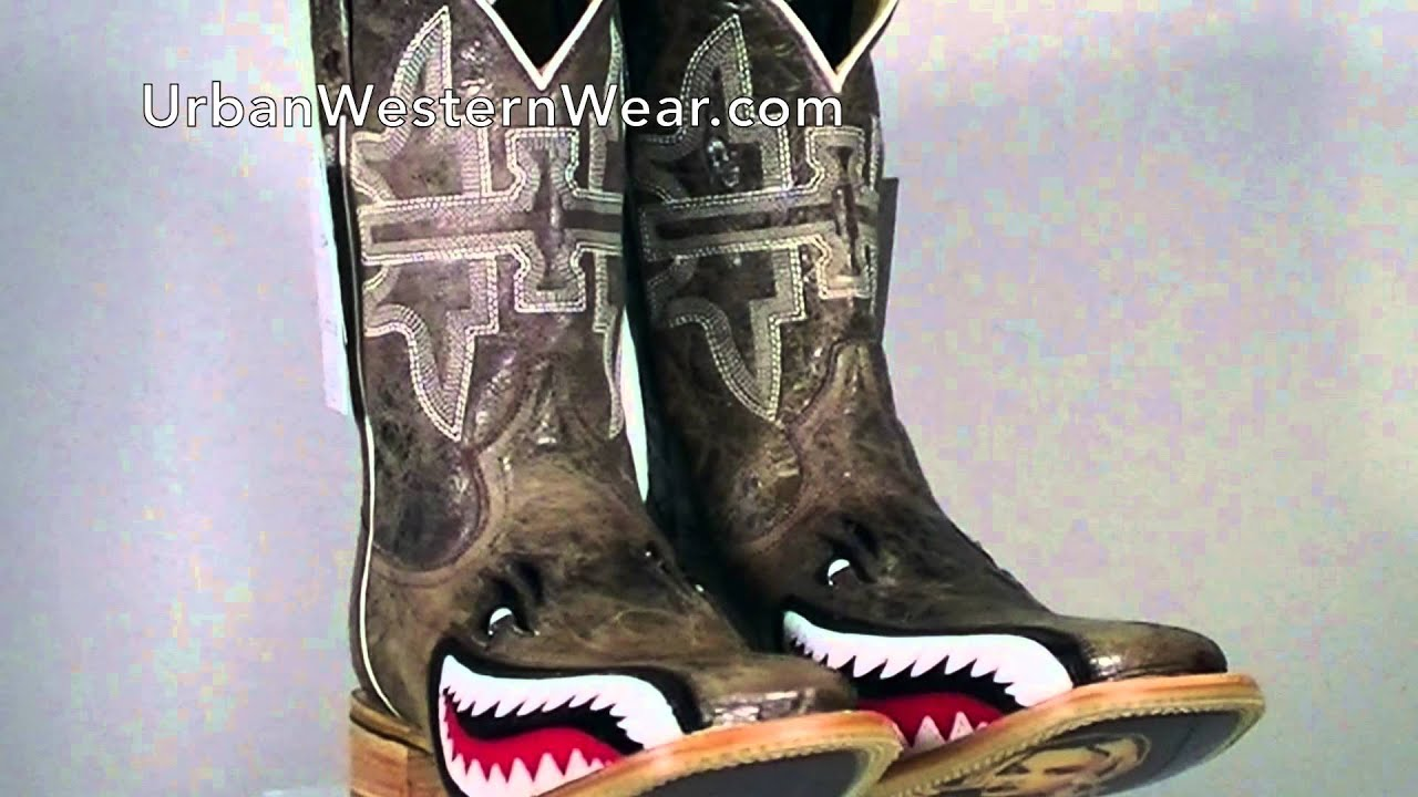 Elegant Tin Haul Men39s Toastin39 A Gnarly Shark Western Boots