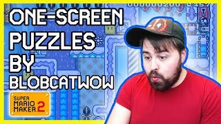 ONE SCREEN PUZZLES By Blobcatwow   Easy and Fun for EVERYONE   Super Mario Maker 2