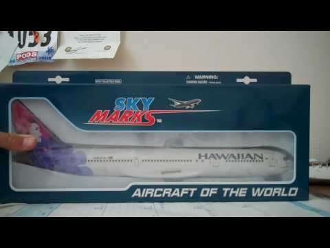 skymarks unboxing  Hawaiian airlines 767-300