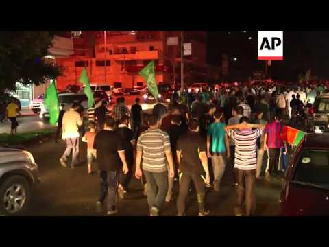 Hamas supporters rally in Gaza City