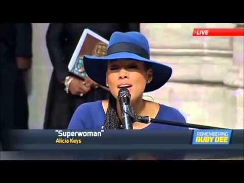 Alicia Keys - Superwoman (Ruby dee Funeral)