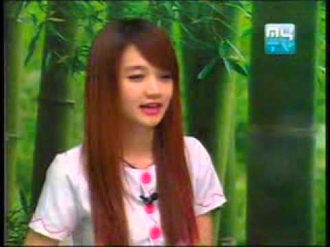 Cambodian Natural Make Up Cute Girl Interview on MyTV Style  Technology 06 11 2013
