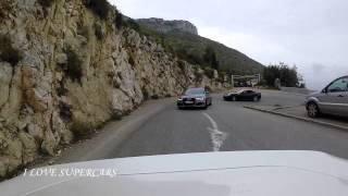 Ride to La Turbie with some Supercars