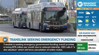 TransLink seeks emergency funding