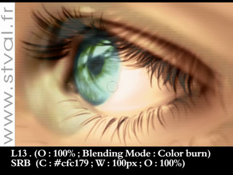 Digital Painting Tutorial 03 : How to draw an EYE (part II)