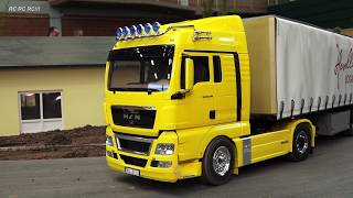 RC MODEL TRUCK ACTION!! RC SCANIA, MAN, MERCEDES-BENZ, ACTROS, US TRUCKS, FORD, TAMIYA