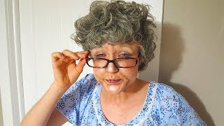 How To Do Granny Makeup And Costume!