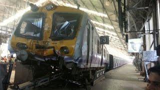 Churchgate : Train climbed on platform CCTV footage