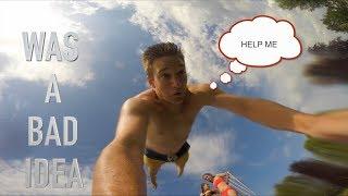 I Found Lost Go Pro, Funny Review (SASUBA Hookah Dive Metal Detecting)