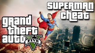 GTA V Cheat Codes Fun! (Skyfall/Superman Cheat Code)