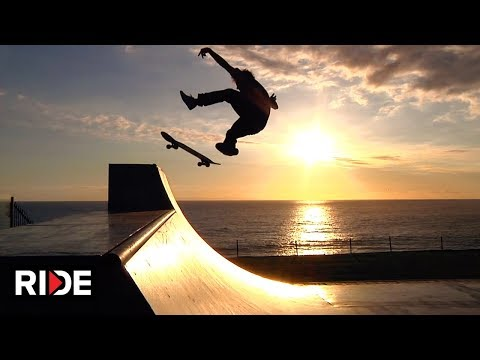 Dana Point Halfpipe with Cliff Side Views - OC Ramps