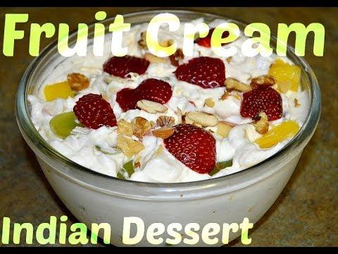 Fruit Cream Indian Dessert Recipe video by Chawlas-Kitchen.com