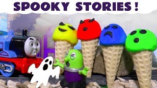 Spooky Stories with Thomas and Friends Trains, the Funny Funlings and Play Doh Ice Cream TT4U