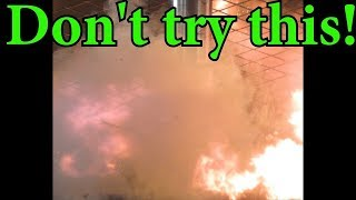 Crushing Power Bank with Hydraulic Press   HUGE EXPLOSION!