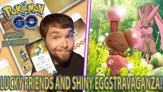 LUCKY FRIENDS AND A SHINY BUNEARY EGGSTRAVAGANZA! Pokemon GO