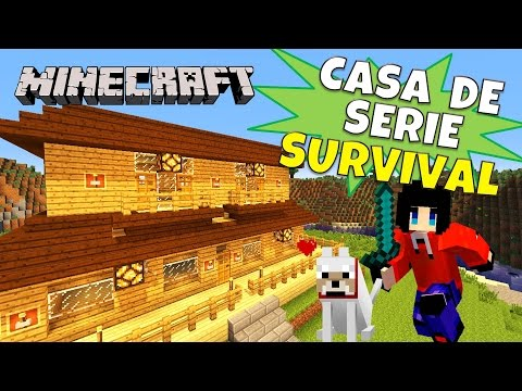 Minecraft: Tutorial, Casa de serie Survival HD.