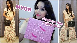 The Gorgeous Mee August 2018 | MYOB | Lifestyle Subscription Box | Unboxing & Review |