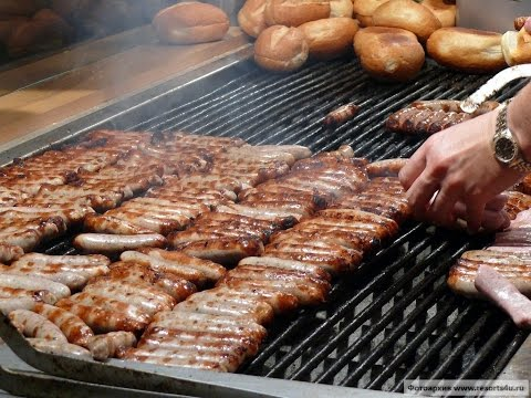 Уличная еда Германии! Уличный фастфуд