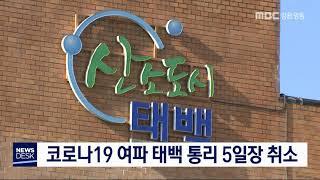 코로나19 여파, 태백 통리5일장 취소