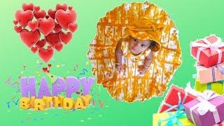 First Birthday of our cute little baby girl   My grand daughter